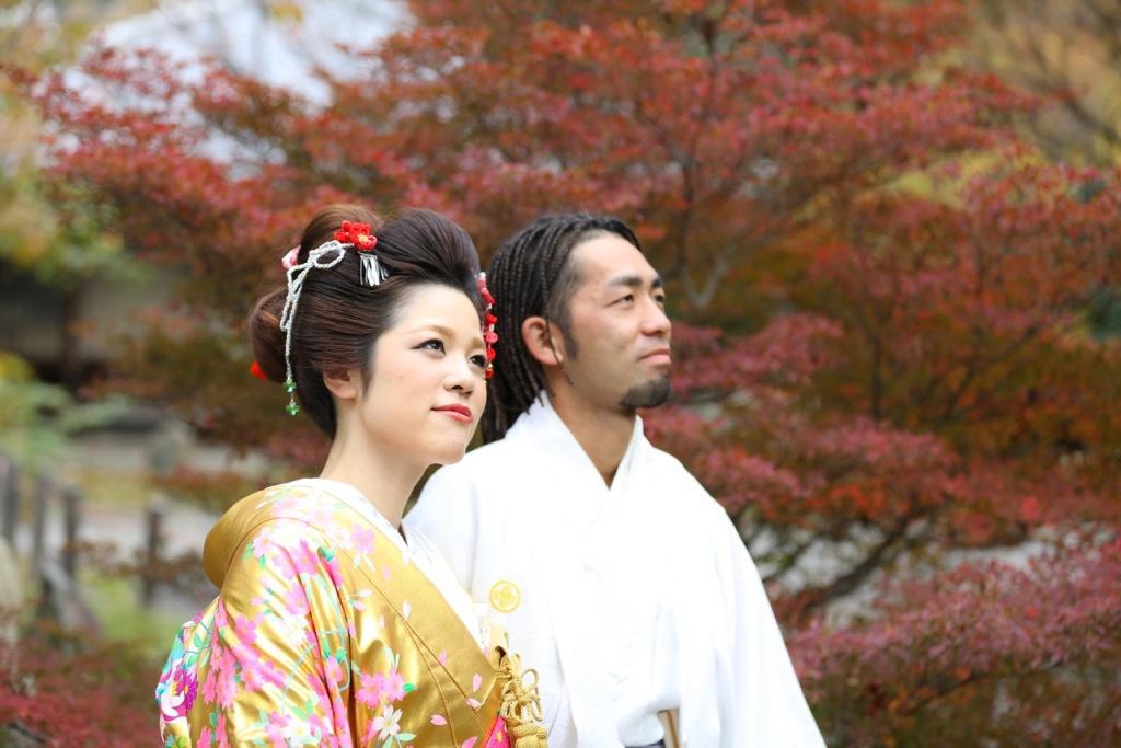 名古屋城 和装 前撮り 紅葉