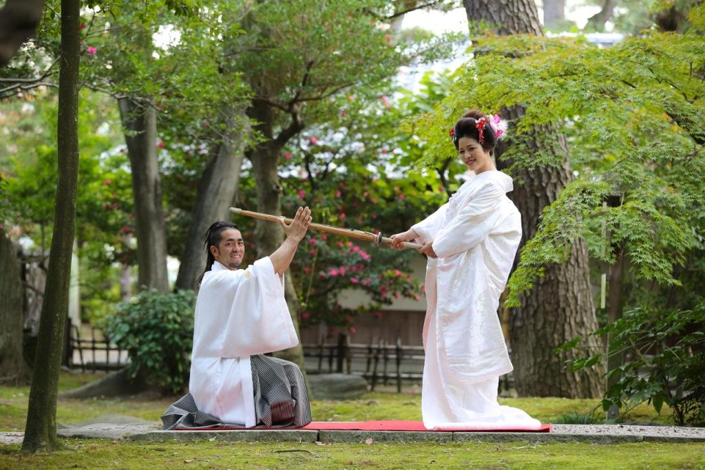 名古屋城で和装前撮り 剣道